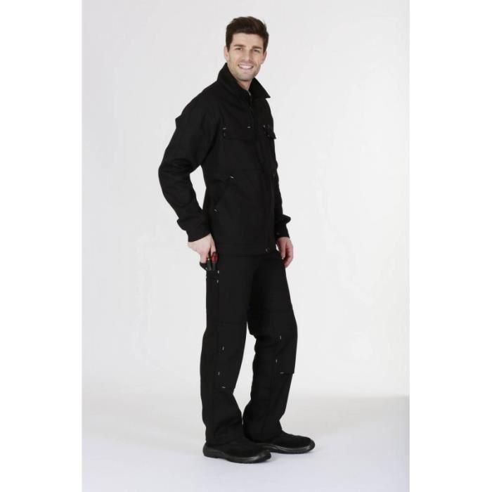veste de travail homme action work noir achat vente veste professionnelle cdiscount. Black Bedroom Furniture Sets. Home Design Ideas