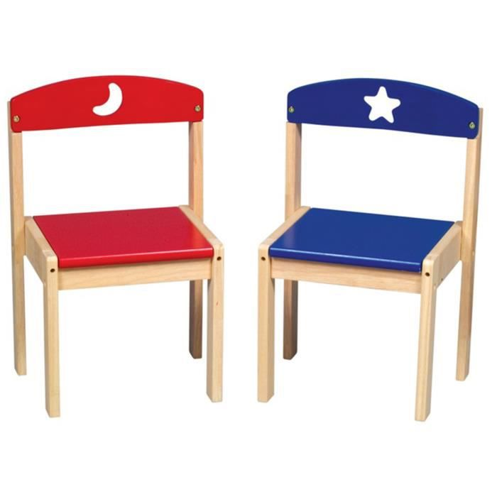 Ensemble de 2 chaises lune et les toiles 36 8 achat for Les 3 suisses chaises