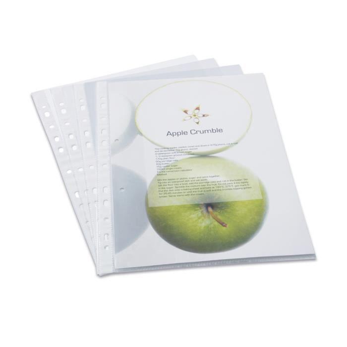 Pqt de 100 pochettes transparentes perfor es a4 achat - Pochettes plastiques transparentes ...