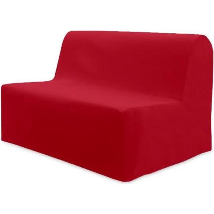 soleil d 39 ocre housse bz panama 140x200cm rouge achat vente housse de canape cdiscount. Black Bedroom Furniture Sets. Home Design Ideas