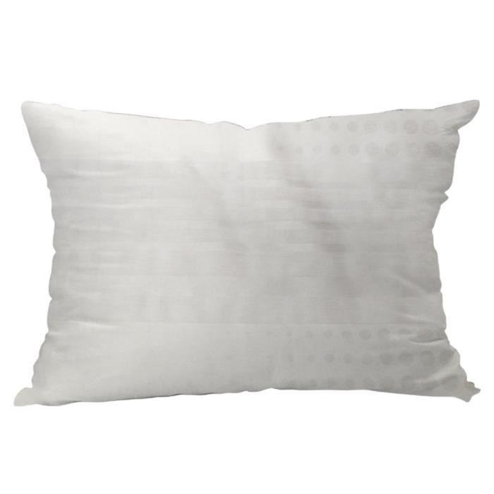 Coussin jacquard d houssable kenny blanc achat vente coussin cdiscount - Coussin de garnissage 50x50 ...