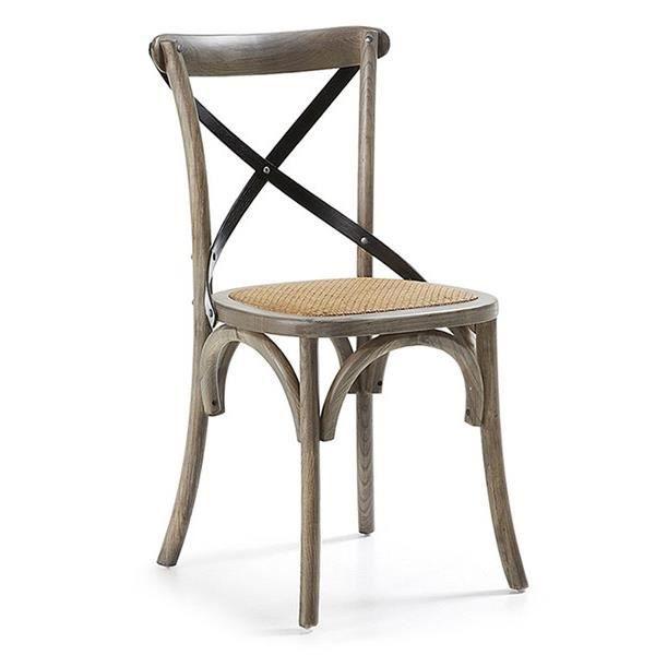 Chaise rotin gris achat vente chaise rotin bois - Chaise en rotin gris ...
