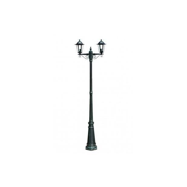 Lampadaire ext rieur double noir hauteur 230 cm achat vente lampadaire ext rieur double Lampadaire interieur