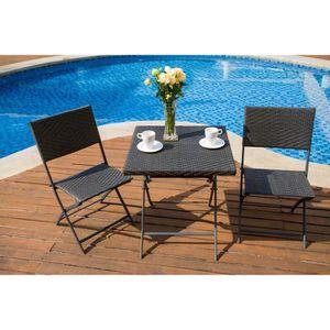 Tables chaises fauteuils achat vente tables for Set table jardin