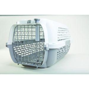 CAISSE DE TRANSPORT PET VOYAGEUR Cage de transport blanc et gris