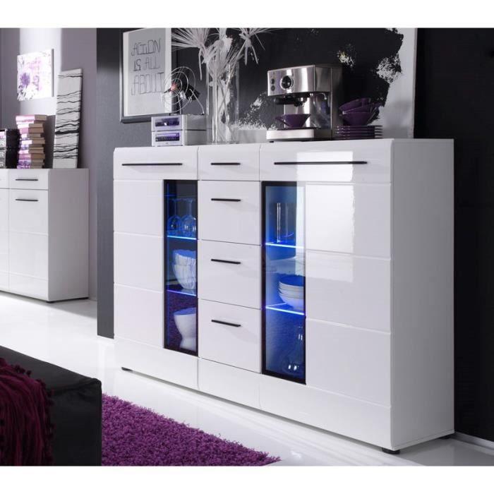 Skin bahut 155 cm avec clairage led blanc achat vente buffet bahut s - Cdiscount buffet de salon ...