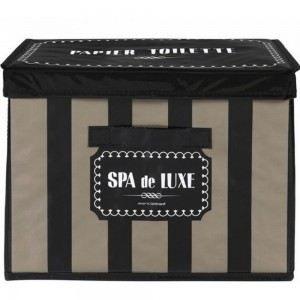 Bo te de rangement design spa de luxe couleur noir achat vente boite de r - Jeux de rangement de maison de luxe ...