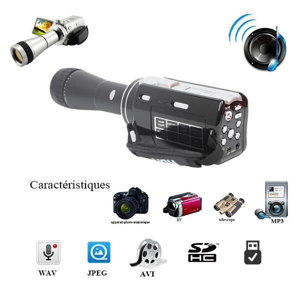 Full hd dvr tft cran 12mp appareil photo 3 0 pouces avec for Appareil photo ecran 3 pouces
