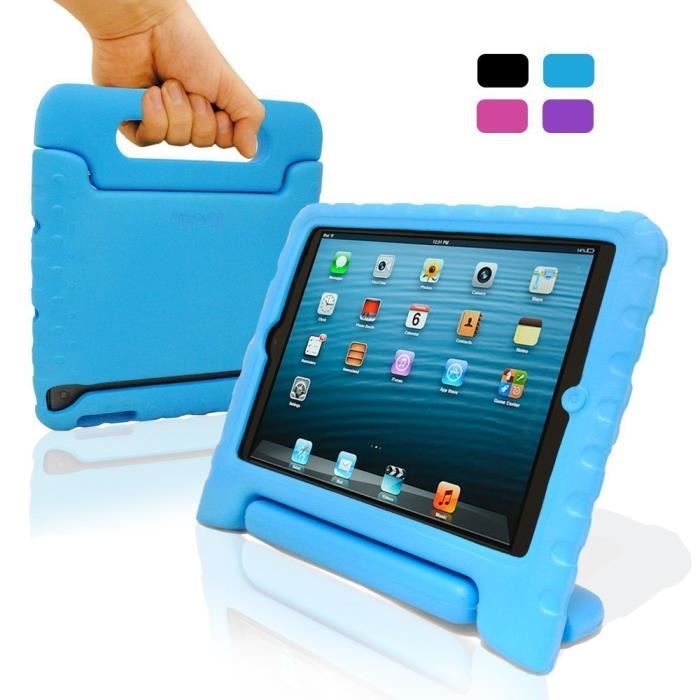 coque protection enfant pour ipad air khomo bleu housse. Black Bedroom Furniture Sets. Home Design Ideas