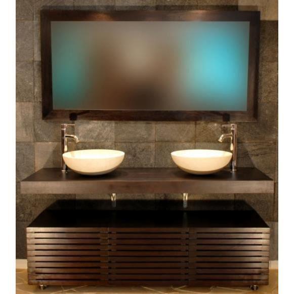 Mobilier de salle de bain ibiza en teck sans mi achat for Mobilier de salle de bain