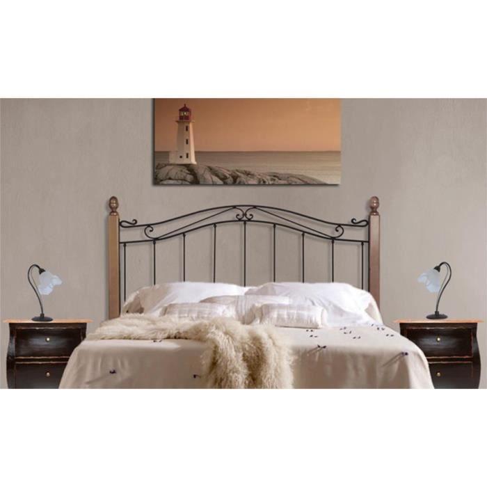 t tes de lit avec barres en bois mod le cristina t te. Black Bedroom Furniture Sets. Home Design Ideas