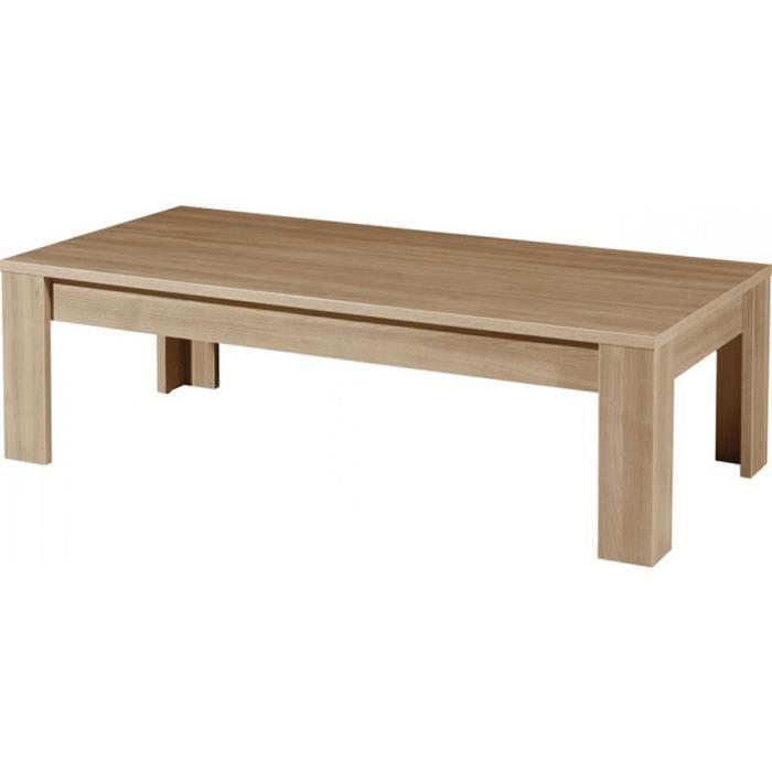 Table basse coloris noyer repro l135 x h40 x 65 cm - Table basse 40 cm largeur ...