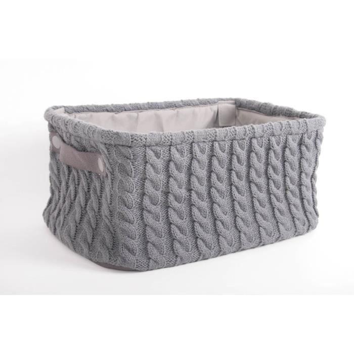 paniere rectangle effet laine anthracite habitat achat vente panier a linge paniere. Black Bedroom Furniture Sets. Home Design Ideas