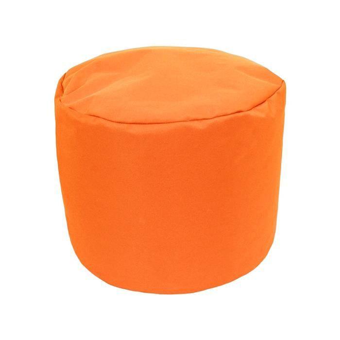 pouf tout rond int rieur ext rieur orange achat vente pouf poire soldes. Black Bedroom Furniture Sets. Home Design Ideas
