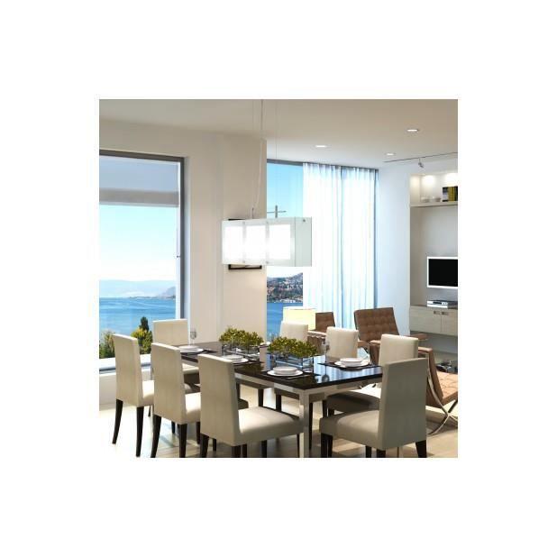 superbe lampe suspendue pour salle manger en verre 3 x e14 achat vente superbe lampe. Black Bedroom Furniture Sets. Home Design Ideas