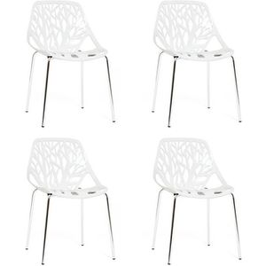CHAISE Lot de 4 chaises blanches - Lily