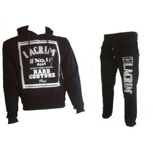 SURVÊTEMENT DE SPORT Jogging Lacrim noir homme Taille XS à XL