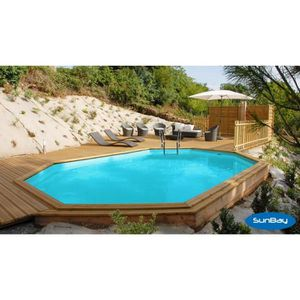 Piscine en bois semi enterre achat vente piscine en for Dimension piscine semi enterree