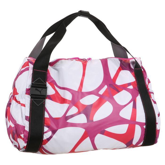 puma sac sport femme blanc et magenta achat vente sac de sport 4051907950321 cadeaux de. Black Bedroom Furniture Sets. Home Design Ideas