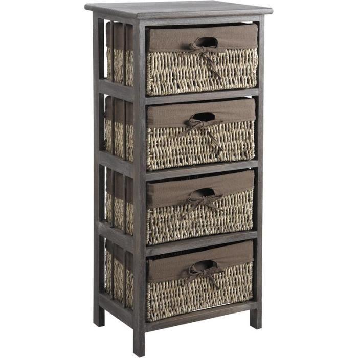 Meuble de rangement 4 tiroirs paniers achat vente Petit meuble de rangement 3 tiroirs