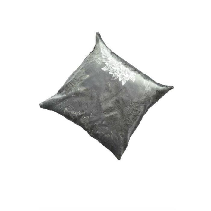 Housse de coussin motif marguerite en gris achat vente - Housse de coussin 70x70 ...