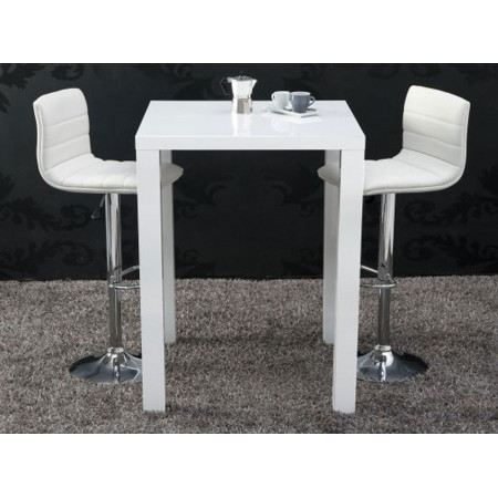 Table de bar betty blanc laqu achat vente mange debout table de bar bett - Table bar blanc laque ...