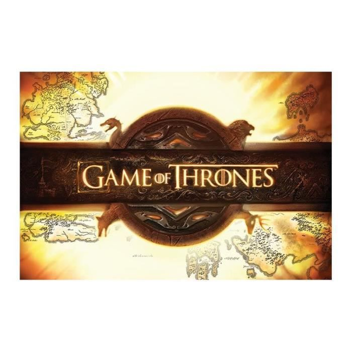 Poster game of thrones logo achat vente affiche for Decoration murale game of thrones