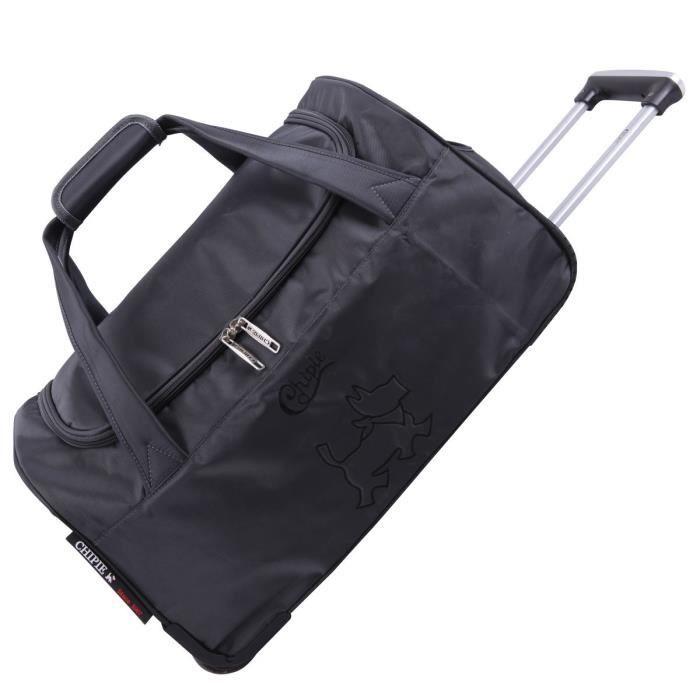 sac de voyage roulettes gris fonc de la marque chipie noir noir achat vente sac de voyage. Black Bedroom Furniture Sets. Home Design Ideas