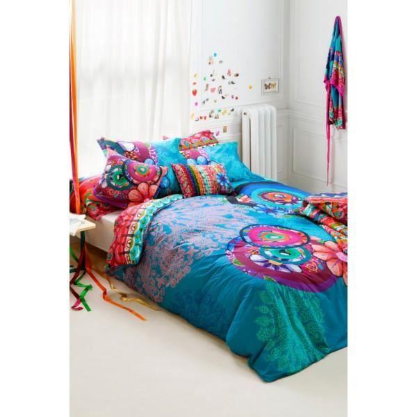 desigual parure housse de couette handflower 155x220 achat vente parure de couette cdiscount. Black Bedroom Furniture Sets. Home Design Ideas