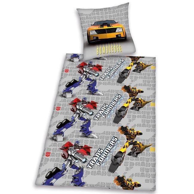 Transformers parure housse de couette taie gri achat for Housse de couette 2 personnes dimension