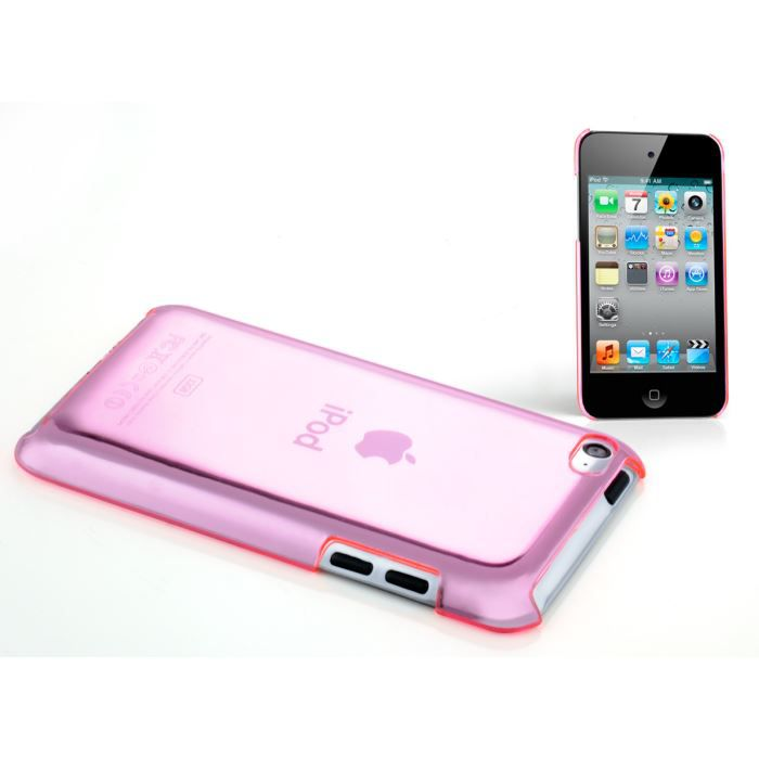 coque ipod touch 4 transparence color rose tran coque. Black Bedroom Furniture Sets. Home Design Ideas