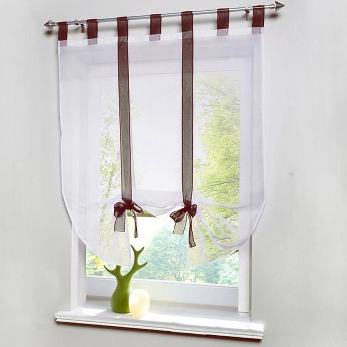 Rideau de fen tre d coration de rideau de fen tre brun for Decoration fenetre avec rideau