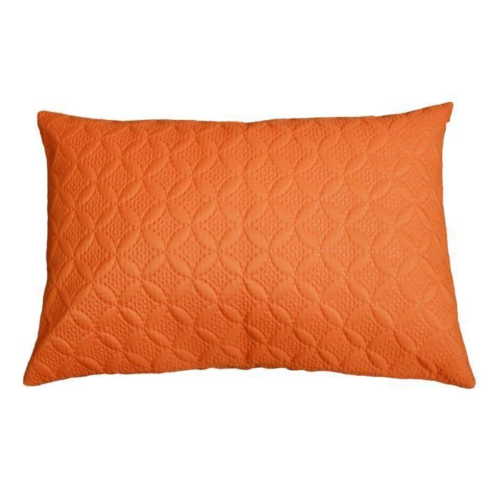 Coussin d houssable ultrasonic orange 50 x 75 cm achat for Housse coussin 50 x 60