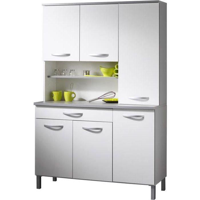 harmony buffet de cuisine 120 cm blanc achat vente buffet de cuisine harmony buffet soldes. Black Bedroom Furniture Sets. Home Design Ideas