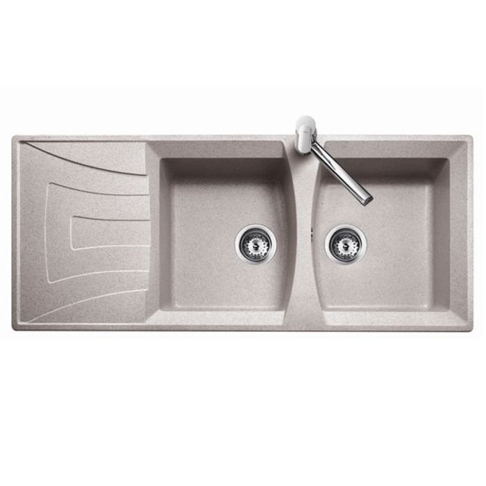 evier univer granit beige sable encastrer 2c 1e achat. Black Bedroom Furniture Sets. Home Design Ideas