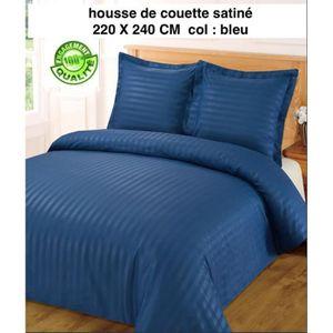 housse de couette bleu 220x240 achat vente housse de couette bleu 220x240 pas cher cdiscount. Black Bedroom Furniture Sets. Home Design Ideas