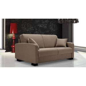 Canap lit leonardo tweed beige convertible rapido for Canape marque italienne