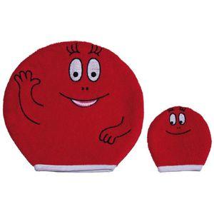 SORTIE DE BAIN BARBAPAPA Lot de 2 gants de toilette Rouge