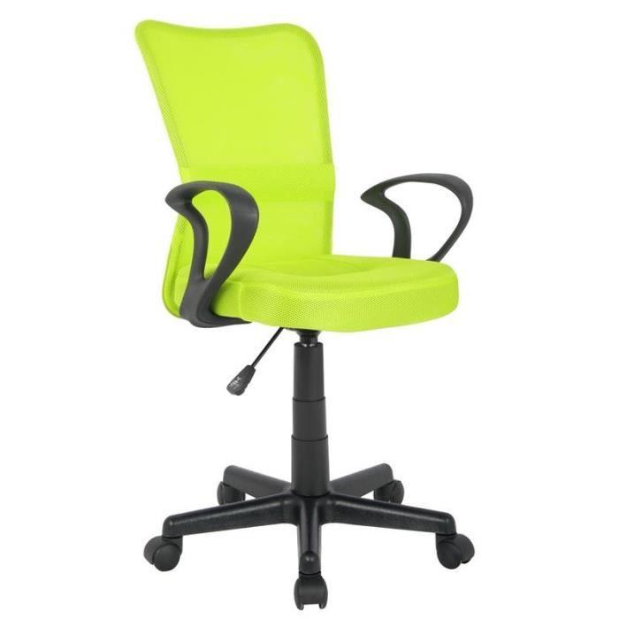 chaise de bureau verte myco00547 achat vente chaise de bureau vert cdiscount