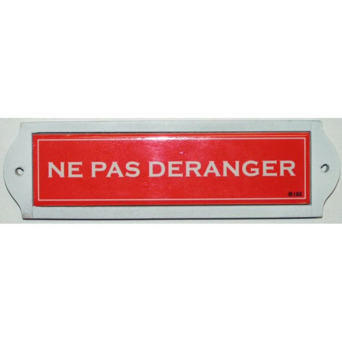 Plaque metal de porte ceramique ne pas deranger achat for Plaque de porte decorative