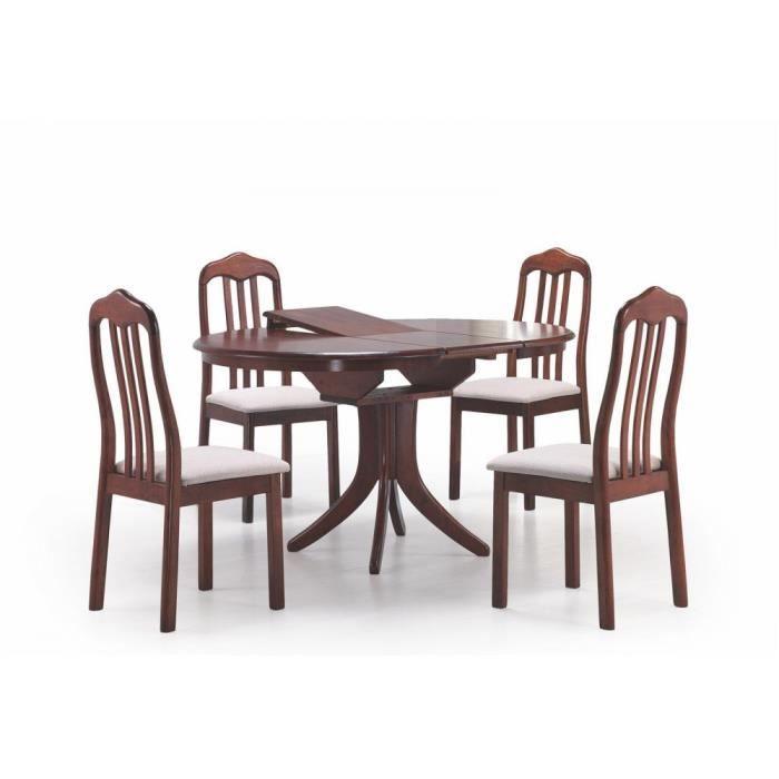 Justhome table de salle manger extensible leroy en bois for Table de salle a manger 140 cm