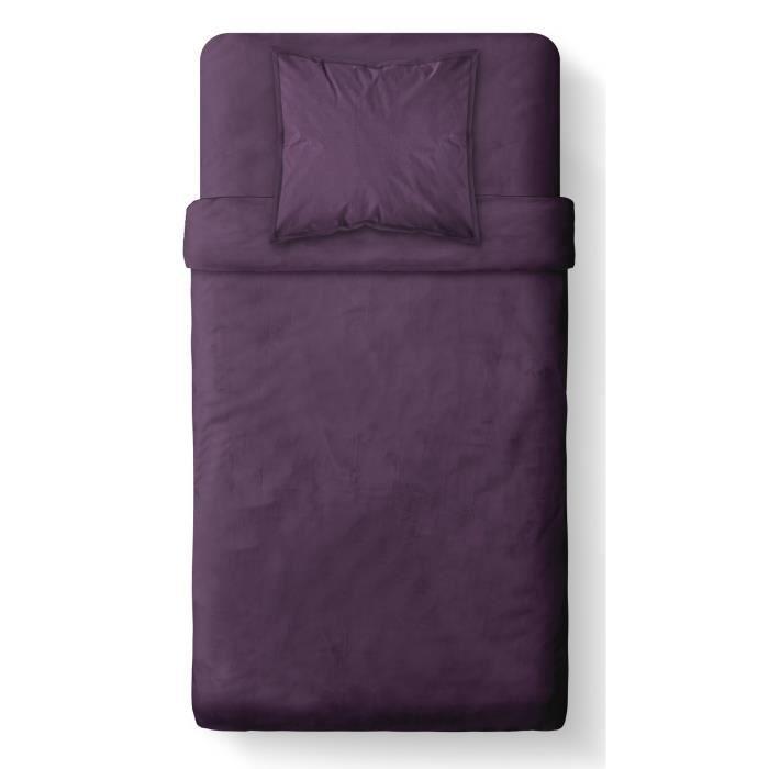 today housse de couette 100 coton 140x200cm deep purple achat vente parure de couette. Black Bedroom Furniture Sets. Home Design Ideas