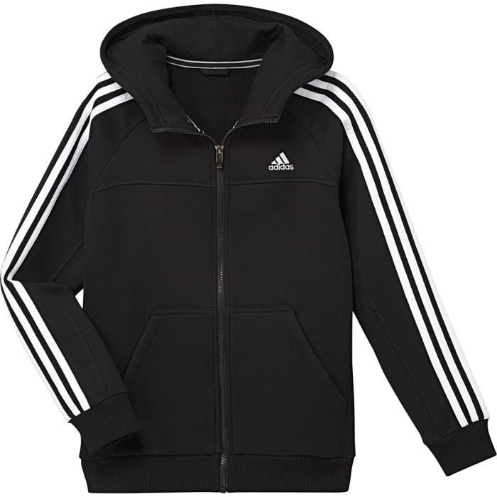 veste capuche adidas veste zip noir noir achat. Black Bedroom Furniture Sets. Home Design Ideas