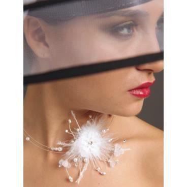 collier de fleurs de perles de strass guimauve achat vente sautoir et collier collier de. Black Bedroom Furniture Sets. Home Design Ideas