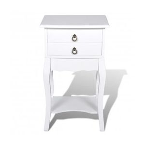 Tables de chevet blanches achat vente tables de chevet for Tables de chevet blanches