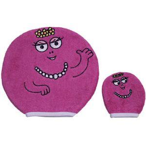 SORTIE DE BAIN BARBAPAPA Lot de 2 gants de toilette Fushia