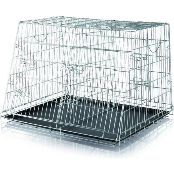 trixie double cage de transport chien 93x68x79 cm achat vente caisse de transport double. Black Bedroom Furniture Sets. Home Design Ideas