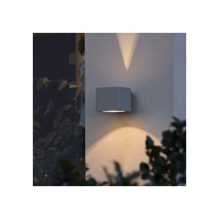 Lampe exterieure design cube achat vente lampe for Luminaire exterieur cube