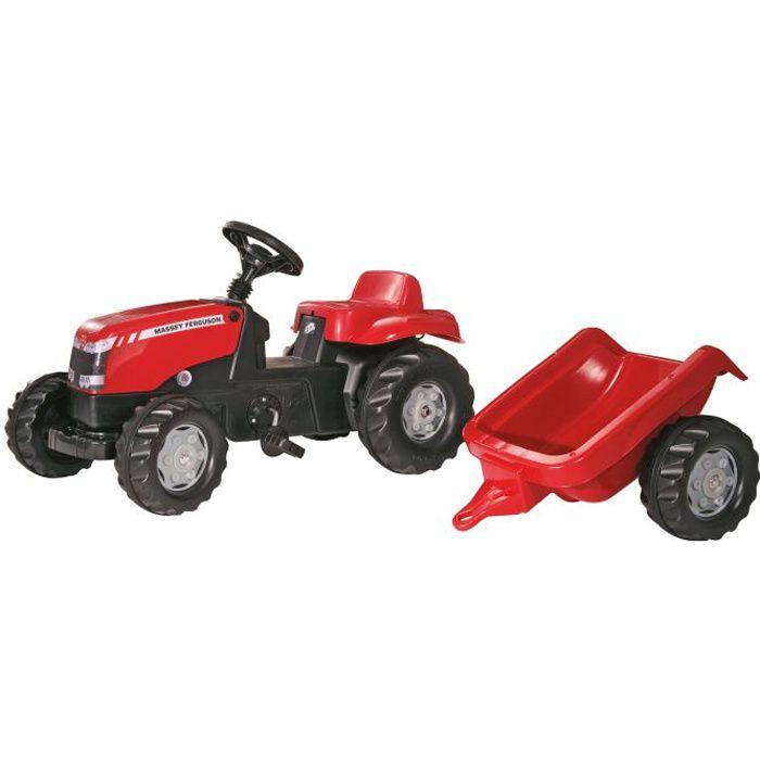 Tracteur p dales massey ferguson avec remorque achat - Remorque tracteur enfant ...