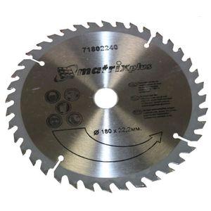 ACCESSOIRE MACHINE DISQUE LAME A BOIS  POUR SCIE 180x22,2mm T40